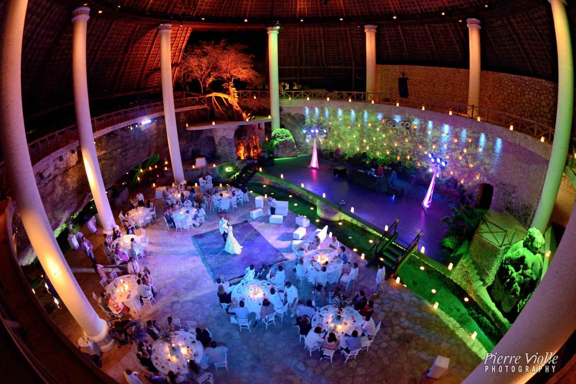 wedding reception at la isla restaurant - Xcaret
